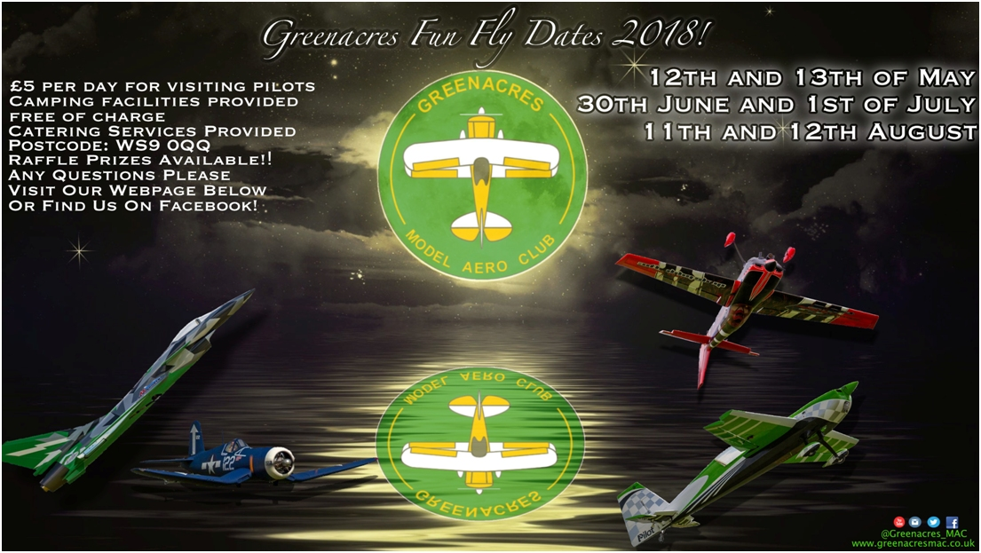 Greenacres Fly In Dates 2018